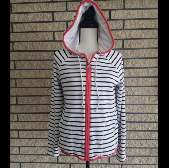 Talbots Tops - Talbots Stripe Hoodie Medium Size